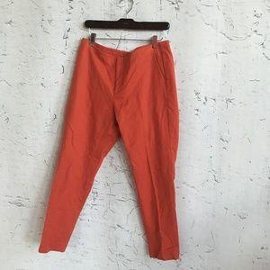 VINCE CAMUTO ORANGE RED CAPRI PANTS 8